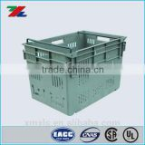 Heavy Duty Stack and Nest Container ; Storage Bins and Containers ; Plastic Baskets with lids and metal handles