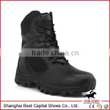 2014 New High quality full black leather military boots rubber sole Military Police boots