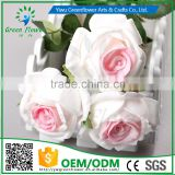 2016 Wholesale 12 PCS 8 color Latex Artificial PU Flowers Rose Bouquet Wedding Bridal Decor Display christmas Real Touch Flower