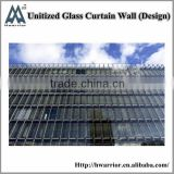 Visible aluminum frame unitized curtain wall