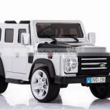 Luxury licensed land rover toy car for kids to drive,battery powered vehicles for kids, electric cars with two opening doors