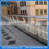 China factory stainless steel rod fence balustrade with glass