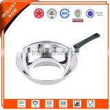 High quality cheap custom stainless steel divided frying pan