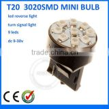 replacement led car light Mini bulb Dashboard light/ Pilot parking lamp/ Corner light 3020 SMD T20 7440 7443