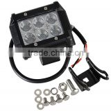 "4"" 18w 6 C ree LED SUV Off-road Boat Headlight Spot Driving Fog Light Led Work Light Bar + Mounting Bracket"