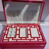 upper class jewelry boxes for ring, earing, pendant, bangle with competitive pricing