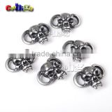 Fang Skull Beads Antique Pewter for Boot Lace Paracord Bracelet Knife Lanyard Outdoor Camping DIY Accessories #FLQ185-AS