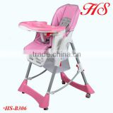 EN14988 approved space saving easy folding plastic high chair for baby kids feeding