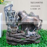 40cm H Tabletop Small Water Pumps Horse Fountain for Sale