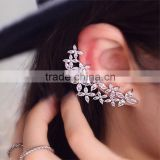 Hot Sell Silver Plated Flower Earrings With Shiny Sparkling AAA CZ Zircon Crystal For Women Girls Wedding Jewelry