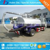 Dongfeng 4x2 Fecal Suction Sewage Truck With Italy Vacuum Pump Small 5000l Sewel Jetting Water Tanker