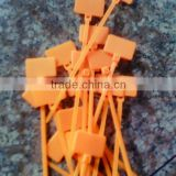 orange plastic cable marker tie tag/nylon tag tie