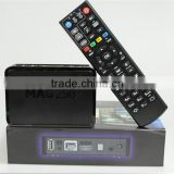 USB MAG250 linux iptv set top box HD 1080p satellite receiver support lan wifi youtube MAG 250/ MAG 254 iptv