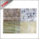 Fireproof interior imitated marble pvc wall panel