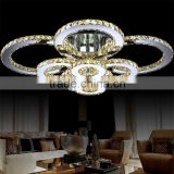 Large Crystal Ceiling Lamp for Hotel 8 Lights 90W Modern Ceiling Lights