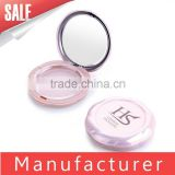 Pink Empty Plastic Compact Powder Case With Mirror