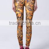 wholesale women high waist fitness gym leggings breathable colorful printed sexy leggings