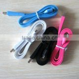 Flat USB data cable for Apple Iphone, Iphone 3g, 3gs, Iphone 4, 4S, Ipad, Ipad 2, new Ipad 3 etc, with charging, Accept PAYPAL