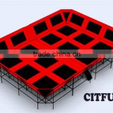 CE certificate cheap gymnastics trampoline tent with dodgeballt for sale CIT-TPD12
