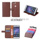 New Product PU Leather Classic Book Folio Case for Huawei V8 with Card Slot and Stand
