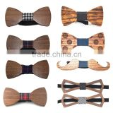 Hot sale marketing Wooden Bow tie ties for Men Wood Fashion unique gift/wedding wholesale Custom