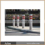 Round red street Stainless Steel safety Bollard for sale