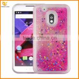 wholesale bling glitter liquid cover case for moto g4