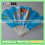 Customized high quality nylon foldable hand fans