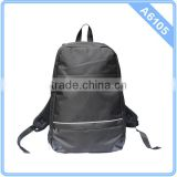 leisure design men backpack with pu leather patch