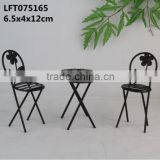 Beautiful small cast iron table and chair craft