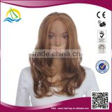 2014 New arrival Heat synthetic Fiber cheap lace front wig with bangs