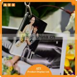 wholesale blank clear plastic Owl laser cut acrylic photo frame keychain