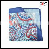 Wholesale Men's Latest Style Digital Printing Linen Pocket Square