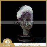 precious amethyst peacock sculpture good for home decoration or collection fengshui products