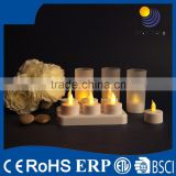 2015 new arrival and wholesale white Rechargeable Tealight Candle from china
