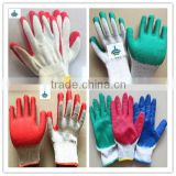 BSSAFETY red latex coated colored garden gloves for russia korea saudi arabia dubai... importer