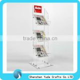 tall commercial floor magazine rack,outdoor magazine stand,magazine display stand acrylic