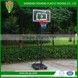 Adjustable standard in ground basketball backboard systems