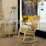 Antique ivory and white color wooden handmade carved adult rocking chair prices - BF07-70320A