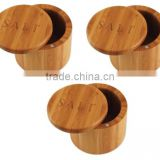 Wholesale Bamboo Salt Box/Bamboo Container/jar With Magnetic Lid