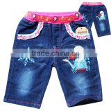 new kids jeans whoesale cheaper girls print pants kids jean