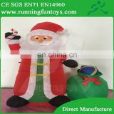 Christmas ornament inflatable Santa Claus carry candy cane with gift bag outdoor decorations