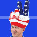 Hot selling us peace sign hat NEW USA Patriotic Peace Sign Hand Hat