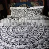Indian Duvet Cover Elephant Mandala Ethnic Quilt Covers Throw Doona Cover With Pillow Covers
