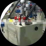 Automatic thermal break aluminum knurling machine with strip insertion