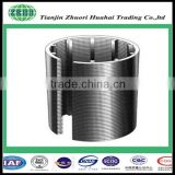 Metal wire wrap /woven hydraulic wegde filter johnson screen for water well treatment