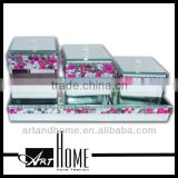 hot salehotel balfour bathroom accessories,glass bathroom set, floral bathroom set1103-010