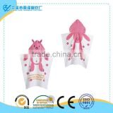 Top selling! 60*60cm lovely bunny beach poncho towels for girls