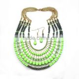 Fashion wedding jewelry set , african jewelry sets beaded ,african beads wholesale fashionable jewerly