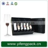 Hot Sale Leather Wine Bottle Holder Gift Box For Single Bottle With Wine Tool Set